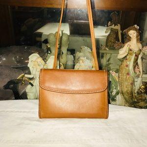 Vintage Coach Leather Wallet Cross body Bag